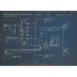 Sayers And Scovill 4 Schema Electrique 1916 Delco