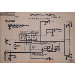 Sayers And Scovill 6 6volt Schema Electrique 1916 Delco