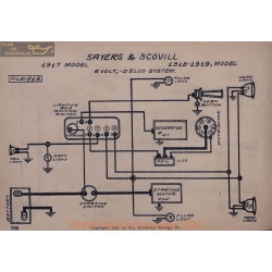 Sayers And Scovill 6volt Schema Electrique 1917 1918 1919 Delco