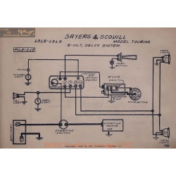 Sayers And Scovill Touring 6volt Schema Electrique 1918 1919 Delco