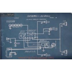 Sayers Scovill 4 6volt Schema Electrique 1916 Delco