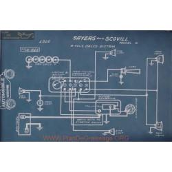 Sayers Scovill 6 6volt Schema Electrique 1916 Delco