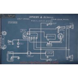 Sayers Scovill 6volt Schema Electrique 1917 1918 1919 Delco