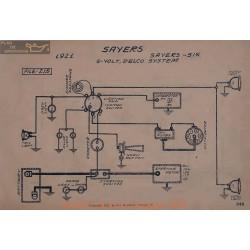 Sayers Six 6volt Schema Electrique 1921 Delco