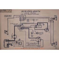 Scripps Booth 12volt Schema Electrique 1915 Bijur V2