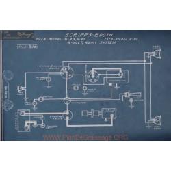 Scripps Booth 6 39 40 30 6volt Schema Electrique 1918 1919 Remy