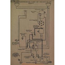 Scripps Booth 6 39 40 Schema Electrique 1918 1919 Remy
