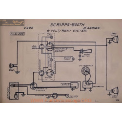 Scripps Booth B 6volt Schema Electrique 1920 Remy