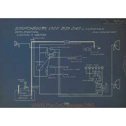 Scripps Booth B39 B40 Schema Electrique 1920 Remy