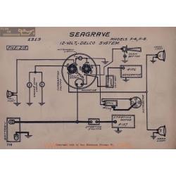 Seagrave F4 F6 12volt Schema Electrique 1919 Delco