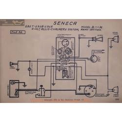 Seneca D H 6volt Schema Electrique 1917 1918 1919 Allis Chalmers Remy V2