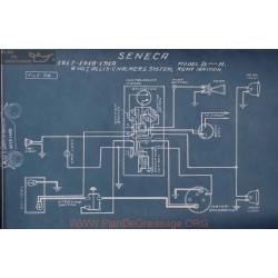 Seneca D H 6volt Schema Electrique 1917 1918 1919 Allis Chalmers Remy