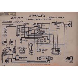 Simplex Crane 5 12volt Schema Electrique 1916 1917 Bosch V2