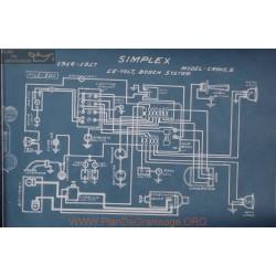 Simplex Crane 5 12volt Schema Electrique 1916 1917 Bosch
