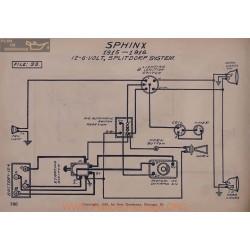 Sphinx 6volt 12volt Schema Electrique 1915 1916 Splitdorf V2