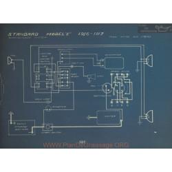 Standard E Schema Electrique 1916 1917 Westinghouse