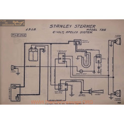Stanley Steamer 735 6volt Schema Electrique 1918 Apelco V2