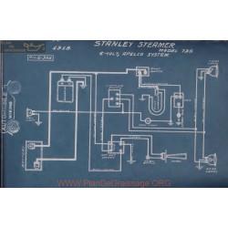 Stanley Steamer 735 6volt Schema Electrique 1918 Apelco