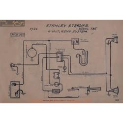 Stanley Steamer 735 6volt Schema Electrique 1921 Remy