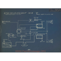 Stearns Knight 4 Schema Electrique 1914 Westinghouse