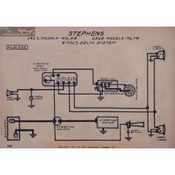Stephens 60 65 70 75 6volt Schema Electrique 1917 1918 Delco V2
