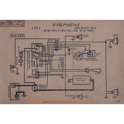 Stephens Salient Six 6volt 8volt Schema Electrique 1921 Autolite