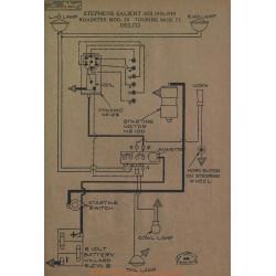 Stephens Salient Six 70 75 Schema Electrique 1918 1919 Delco