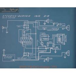 Stevens Duryea D 6 Schema Electrique 1915