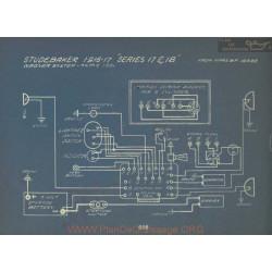 Studebaker 17 18 Schema Electrique 1916 1917 Wagner