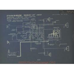 Studebaker 20 Schema Electrique 1920 Wagner