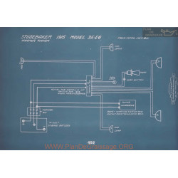 Studebaker 35 Eg Schema Electrique 1915 V2
