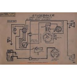 Studebaker 6volt Schema Electrique 1920 1921 Remy