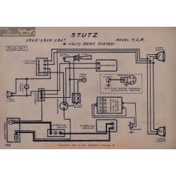 Stutz F C R 6volt Schema Electrique 1915 1916 1917 Remy V2