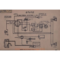 Stutz K 6volt Schema Electrique 1921 Remy Delco