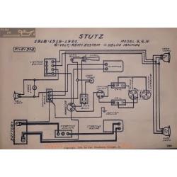 Stutz S G H 6volt Schema Electrique 1918 1919 1920 Remy Delco