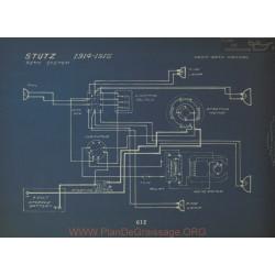Stutz Schema Electrique 1914 1915 Remy