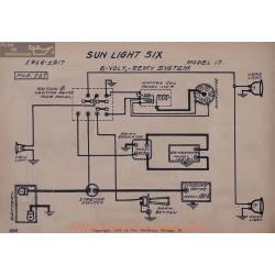 Sun Light Six 17 6volt Schema Electrique 1916 1917 Remy