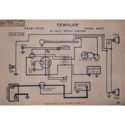 Templar 445 6volt Schema Electrique 1918 1919 Remy V2