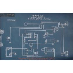 Templar All Models 6volt Schema Electrique 1920 Bijur