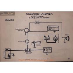 Towmotor Company 6volt Schema Electrique 1920 Delco
