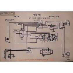 Velie 22 6volt Schema Electrique 1916 Remy
