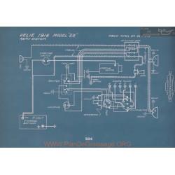 Velie 22 Schema Electrique 1916 V2