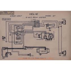 Velie 27 6volt Schema Electrique 1916 1917 Remy V2