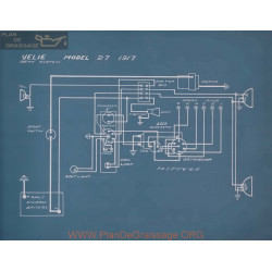 Velie 27 Schema Electrique 1917