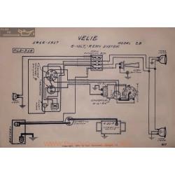 Velie 28 6volt Schema Electrique 1916 1917 Remy V2