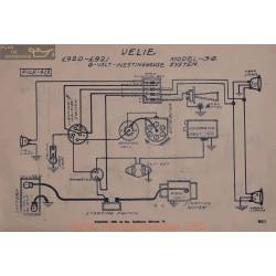Velie 34 6volt Schema Electrique 1920 1921 Westingouse