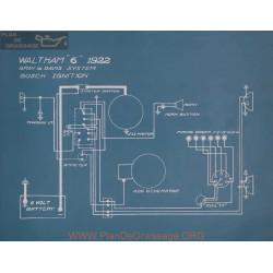 Waltham 6 Schema Electrique 1922