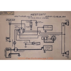 Westcott 17 18 19 18a 6volt Schema Electrique 1917 1918 1919 Delco