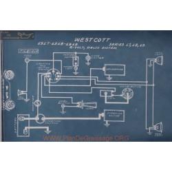 Westcott 17 18 19 6volt Schema Electrique 1917 1918 1919 Delco