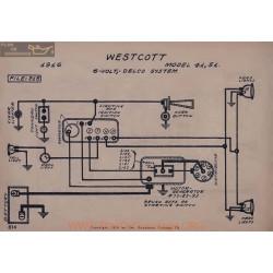 Westcott 41 51 6volt Schema Electrique 1916 Delco V2